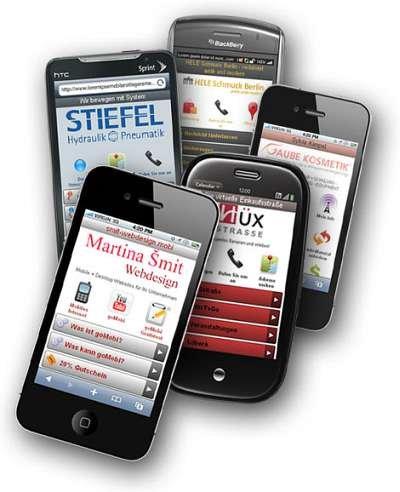 Beispiele mobiler Websites